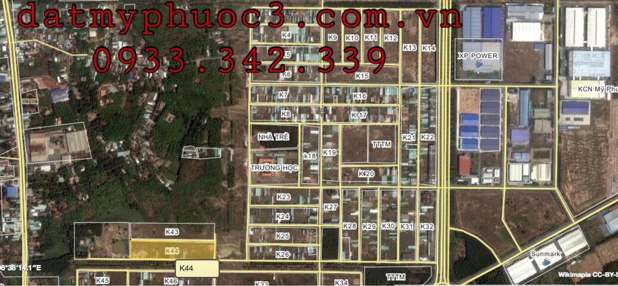 Chính chủ cần bán lô K44 Mỹ Phước 3 lô K44 hướng Nam view kênh